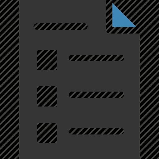 clipboard, inventory, list, report, tasks, todo icon, • checklist icon