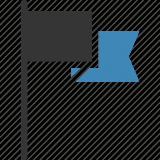 flag, location, pin, sport, success, waving icon, • area icon