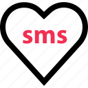 heart, love, messaging, sms, text icon