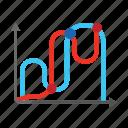 chart, graph, growing, mathematics, report icon