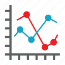 analytics, chart, graph, line, report icon