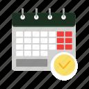 calendar, keeper, organize, organizer, page, schedule icon