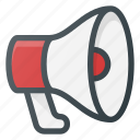 advertise, loud, megaphone, shout, speaker icon