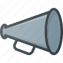 advertise, loud, megaphone, shout, speaker