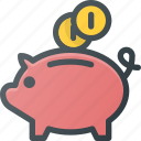 bank, finance, money, piggy, savings icon