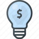 bulb, idea, light, lightbulb, money, solution icon