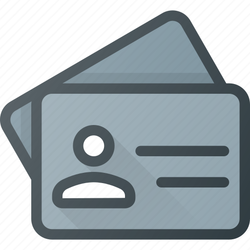 id, identity, license, name, office, tag icon
