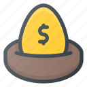 wealth, money, nest, savings, plan, investment icon