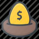 investment, money, nest, plan, savings, wealth