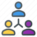 marketing, network, networking, people, social, team icon