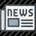 article, media, news, newspaper, paper, press icon