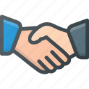 agreement, business, deal, hand, meeting, partnership, shake icon