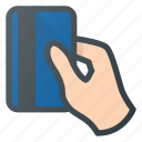 bank, card, hand, money, pay, payment, pos icon