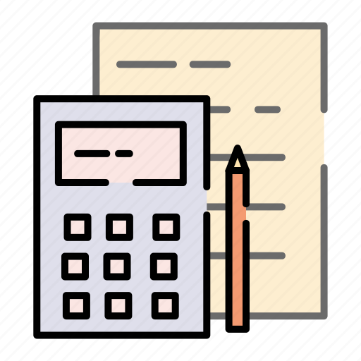 accounting, business, calculation, calculator, office icon