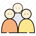 business, meeting, office, users icon