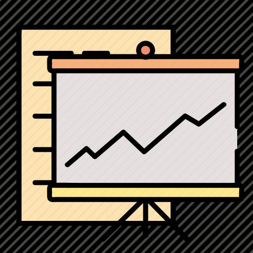 Marketing, statistics, finance, business, graph, chart icon