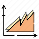business, chart, diagram, finance, graph icon