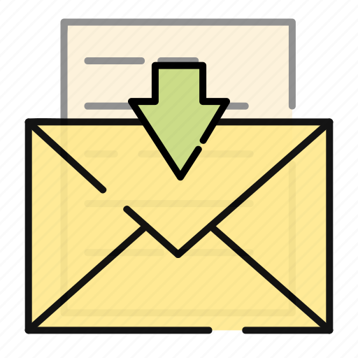 email, incoming, letter, mail, message icon
