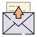 email, letter, mail, message, outgoing icon