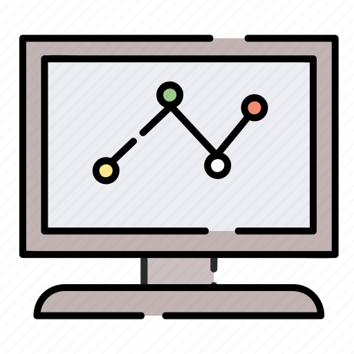 businee, chart, computer, diagram, graph icon