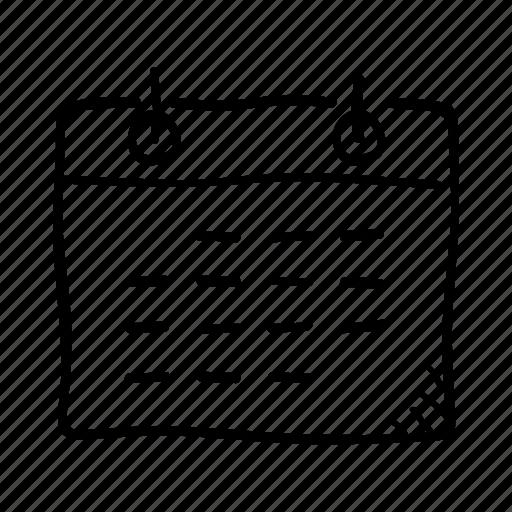 Calendar Date Day Plan Planning Schedule Week Icon Download On Iconfinder