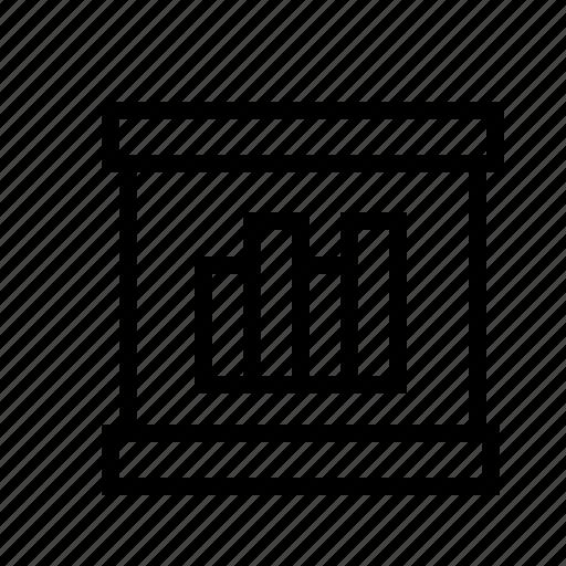 bar, business, diagram, graph, presentation, progress icon