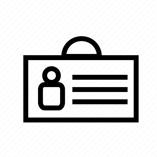 business, card, company, id card, identity icon