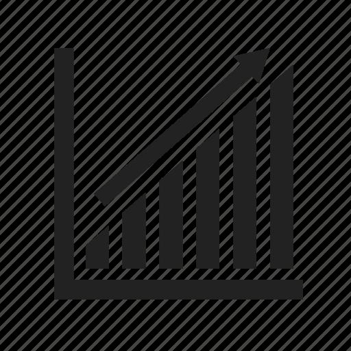 analytics, chart, diagram, graph, profit, report, rising, statistics, up icon