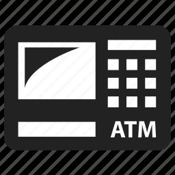 atm, business, cash, finance, money icon