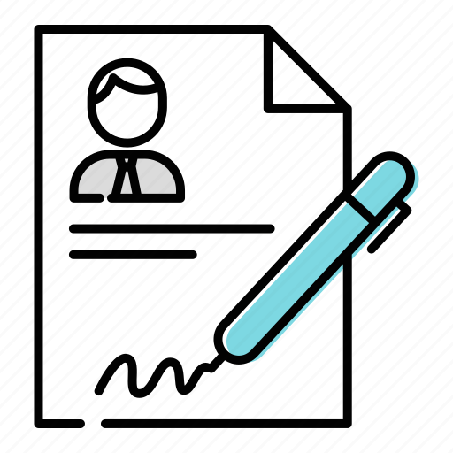 business contract, document, file icon
