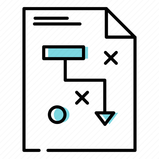 business plan, marketing plan, sales strategy icon