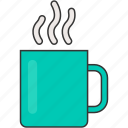 breakfast, coffee, cup, hot, mug, tea icon