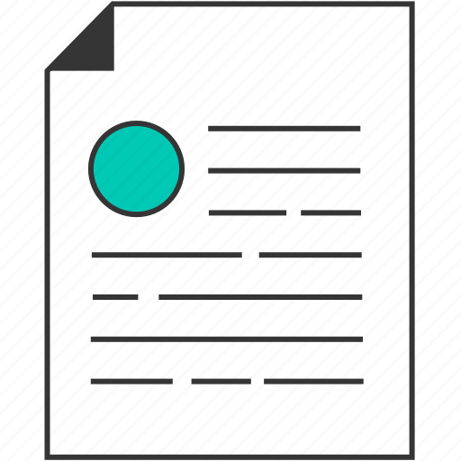 contract, document, file, paper, resume icon