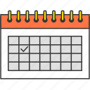 calendar, day, deadline, event, management, schedule icon