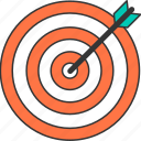 aim, arrow, bullseye, success, target icon