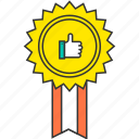 award, badge, good, medal, prize, success, win icon