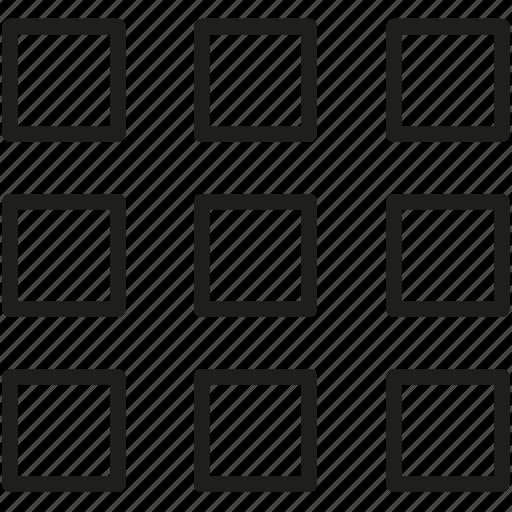 boxes, grid icon icon