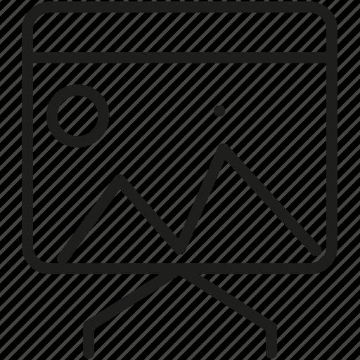 blackboard, board, drawing, graphic icon icon