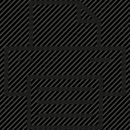 line, print, printer icon icon