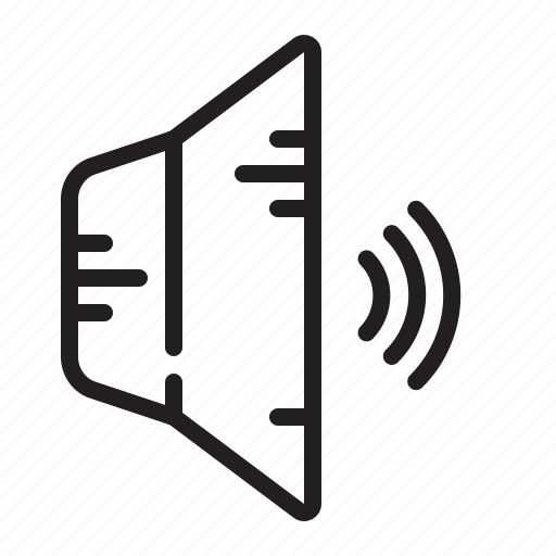 business, speaker, volume, wave icon