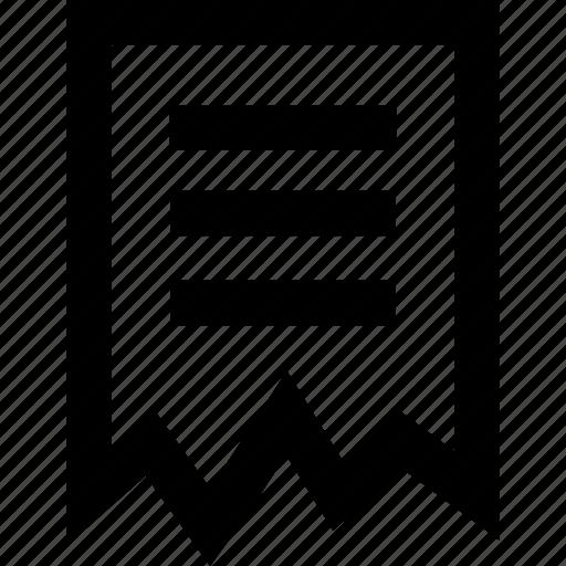 document, documents, invoice, receipet icon