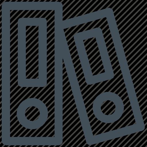 books, file folders, folders, office icon icon