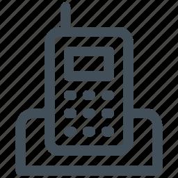 communication, cordless, phone, telephone icon icon