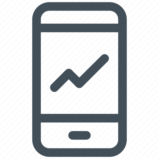 analysis, analytic, mobile, report, stat icon icon