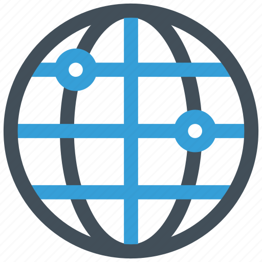 global, globe, link, network icon icon