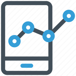 analysis, analytics, mobile, mobilegraph icon icon