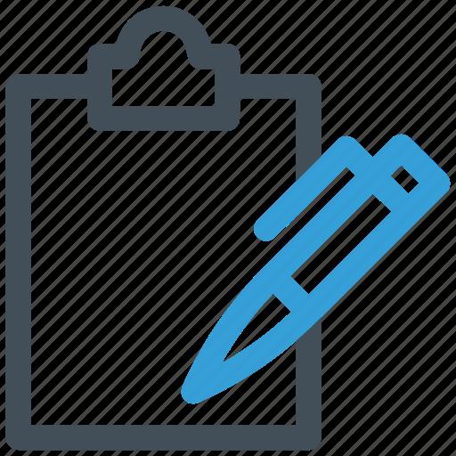 board, clip, clipboard, document, file, paper, text icon icon