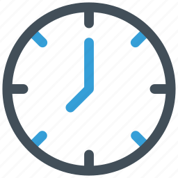 clock, office, time, wall clock icon icon