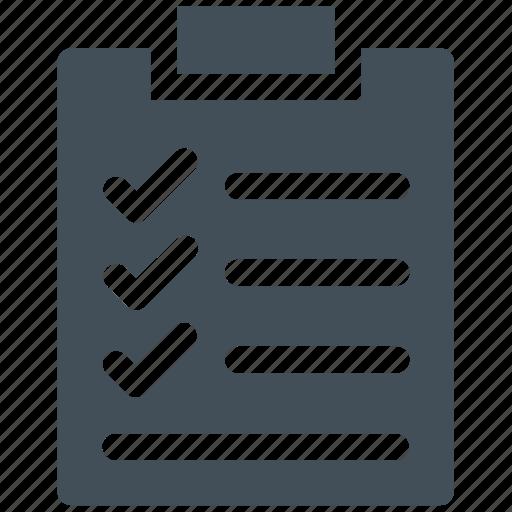 check list, checklist, clip board, list icon icon