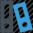 folders, office icon, books, file folders icon
